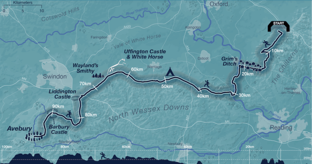 Map of Race To The Stones