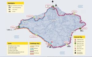 Map of the Isle of Wight Challenge