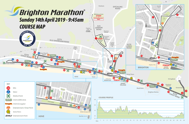 Map of Brighton Marathon