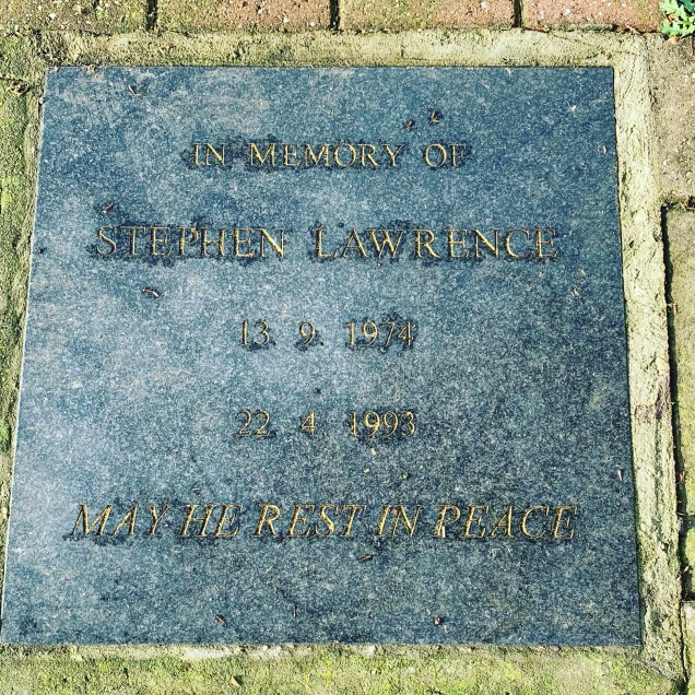 memorial on pavement